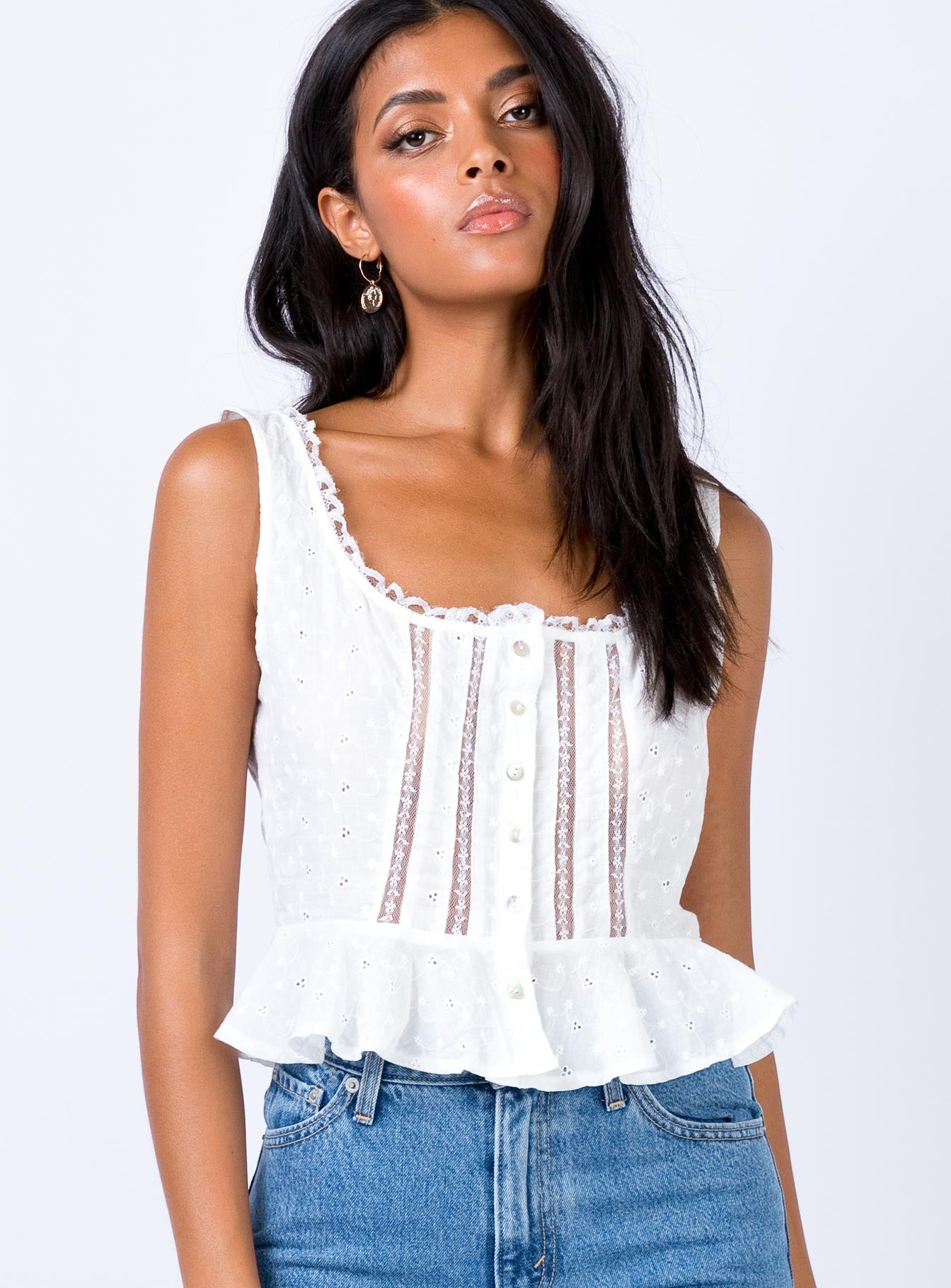 The Zita Top White