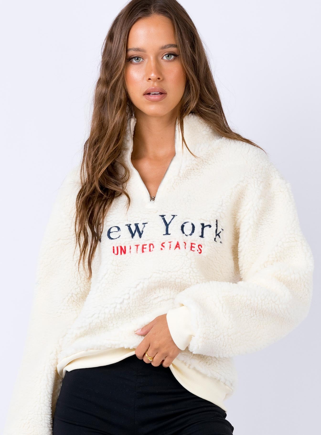 New York Teddy Jumper Cream