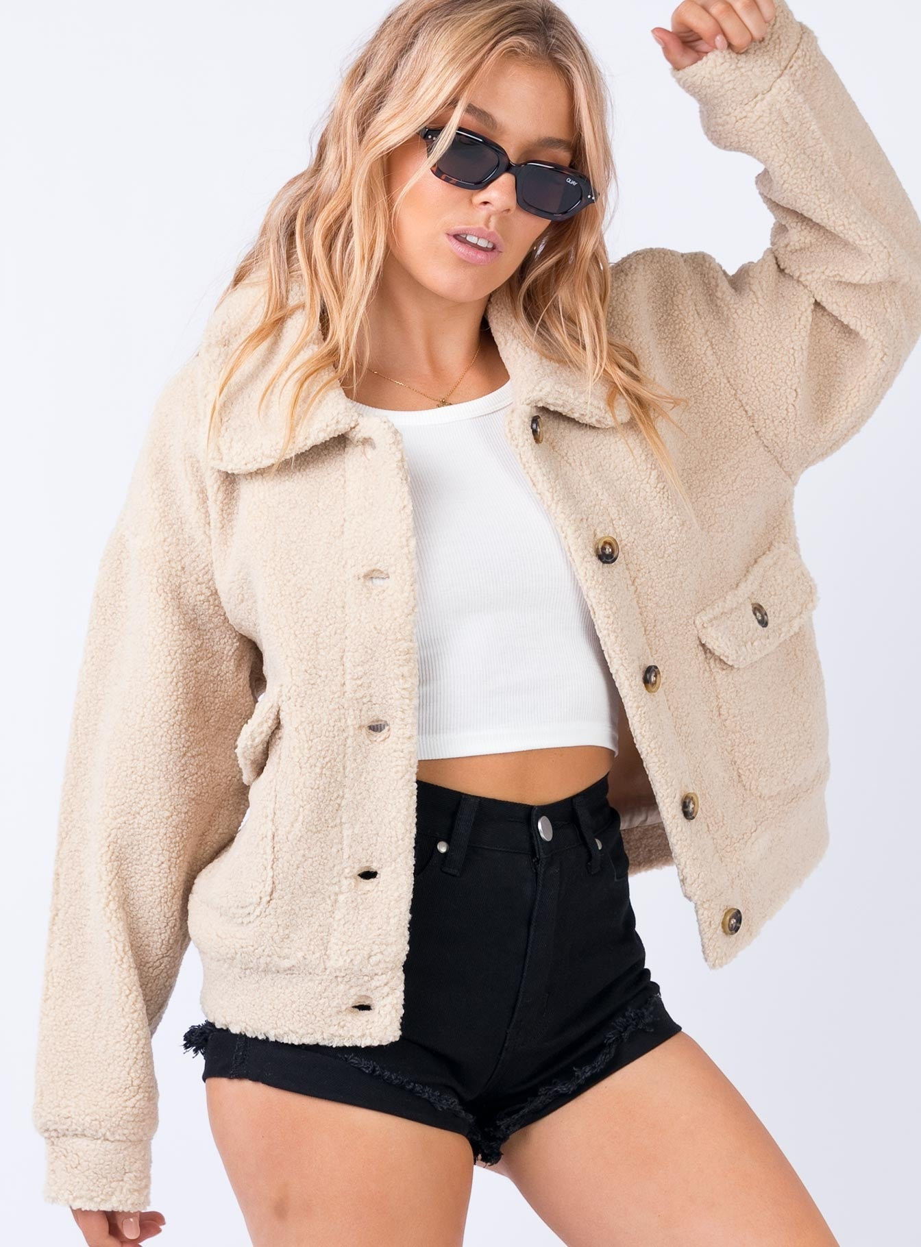 The Roxette Jacket Beige by Princess Polly