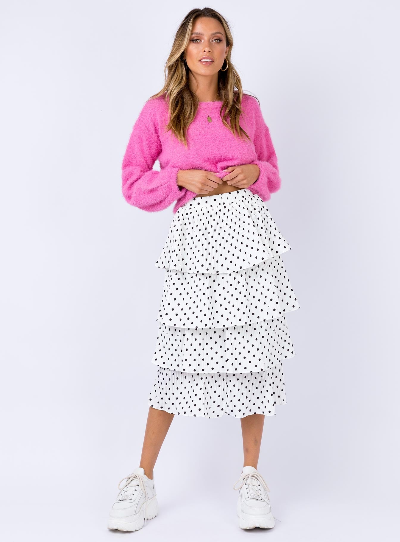 Charlton Midi Skirt White
