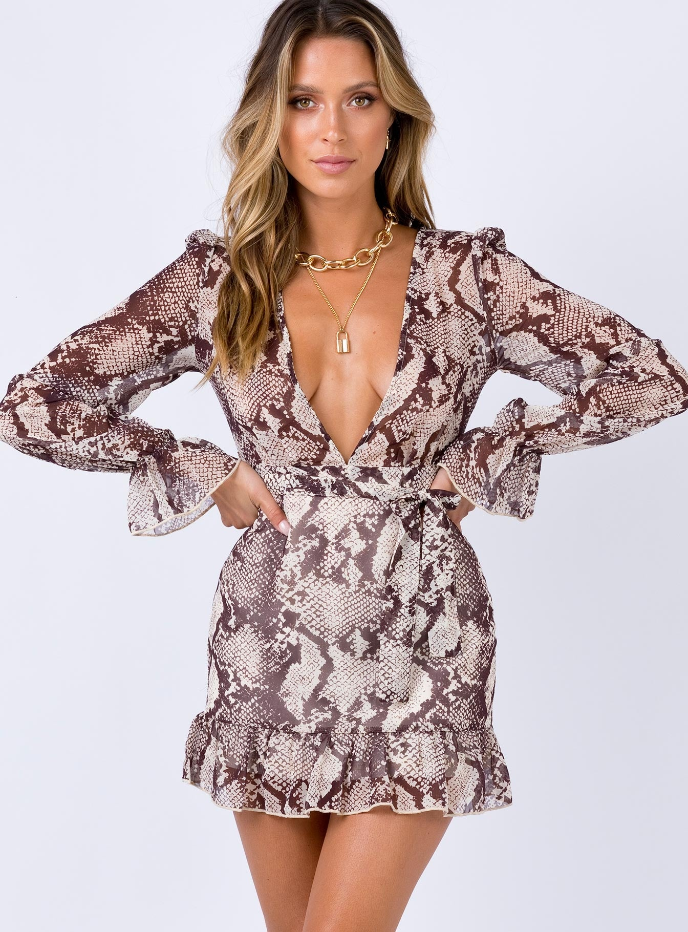 Fearless Mini Dress Python Print