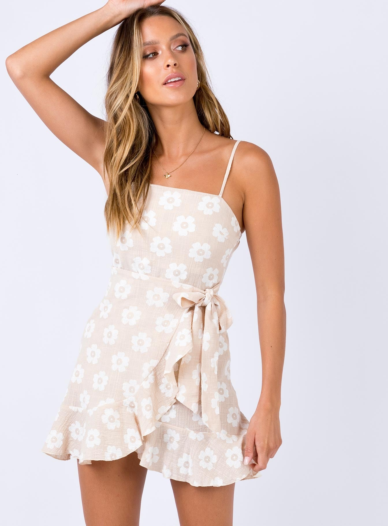 Apella Mini Dress Beige