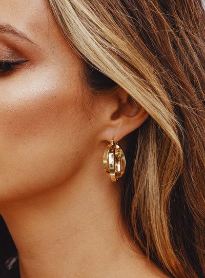 Barca Earrings Gold