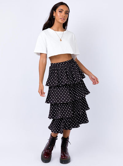 Charlton Midi Skirt Black