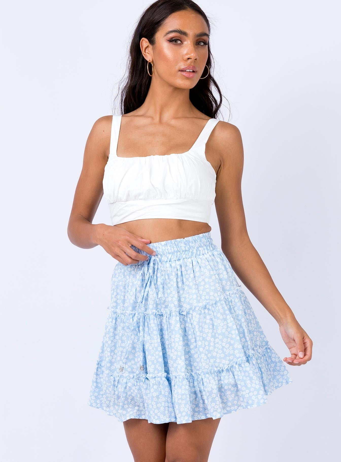Meltem Mini Skirt Blue