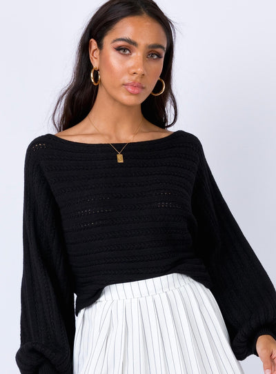 Wonderlane Jumper Black