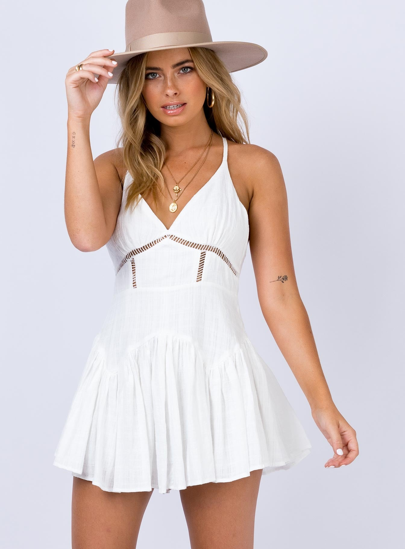 Hoadley Mini Dress White