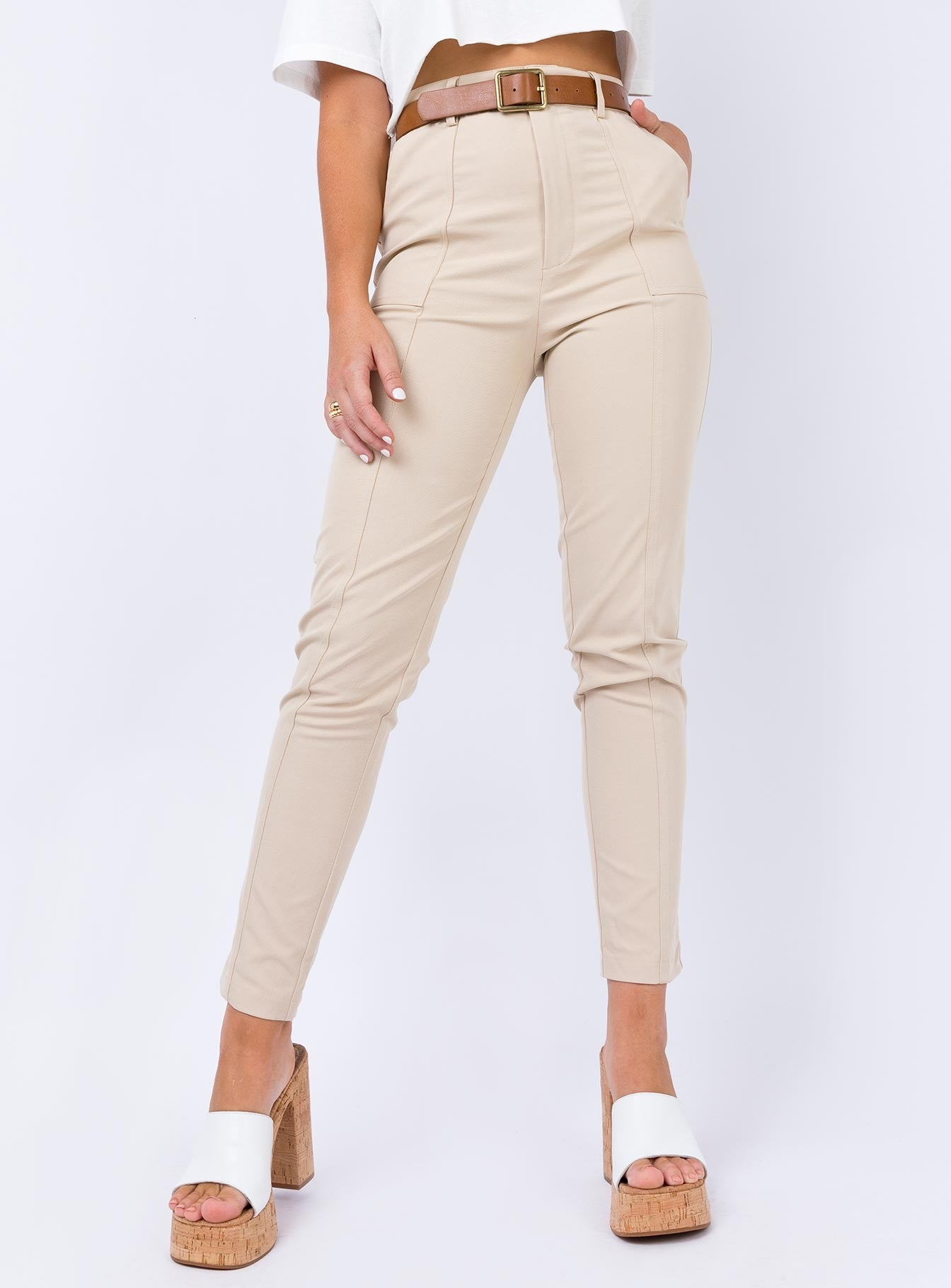 The Enon Pants Beige