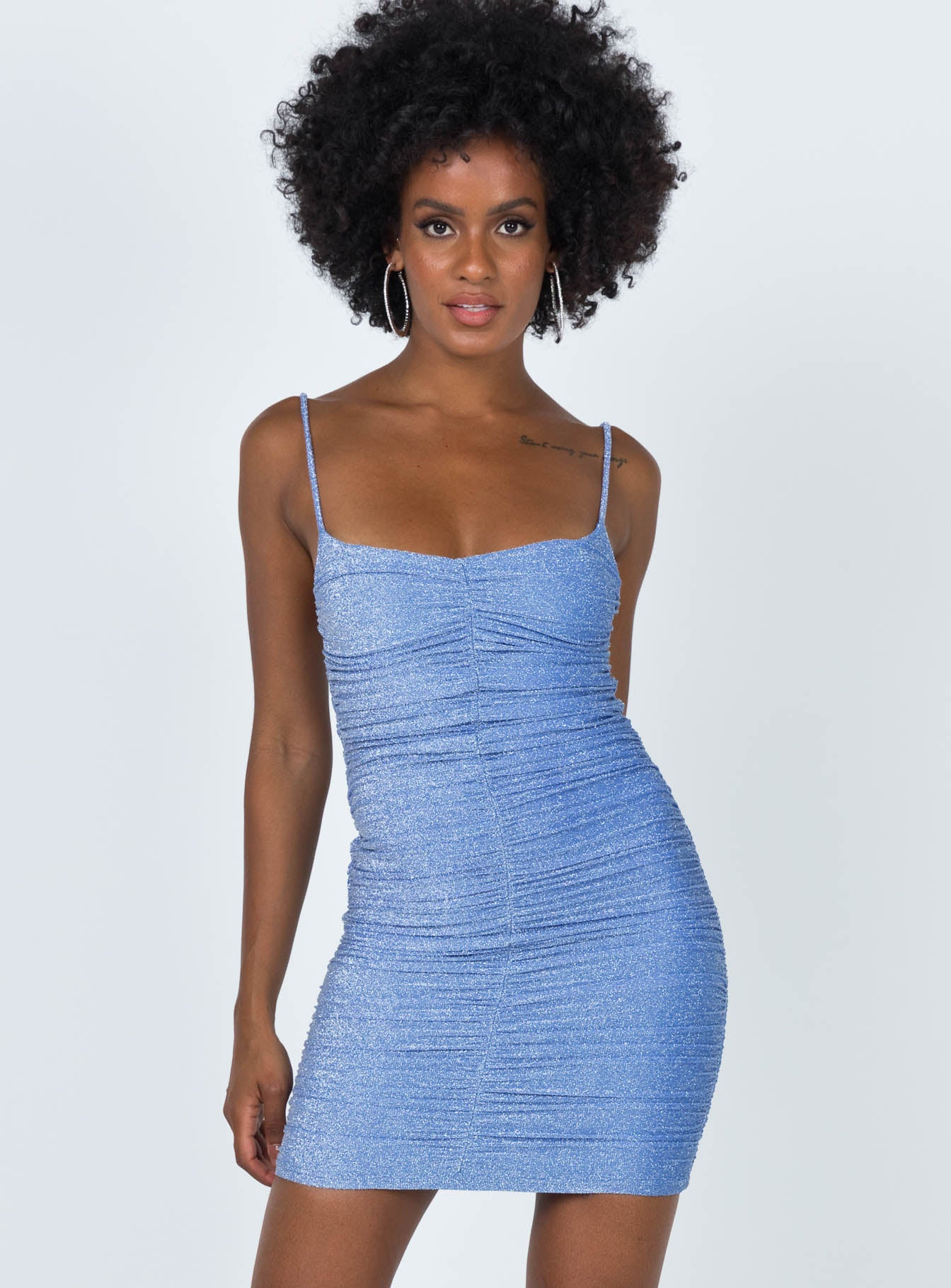 Zoe Mini Dress Blue
