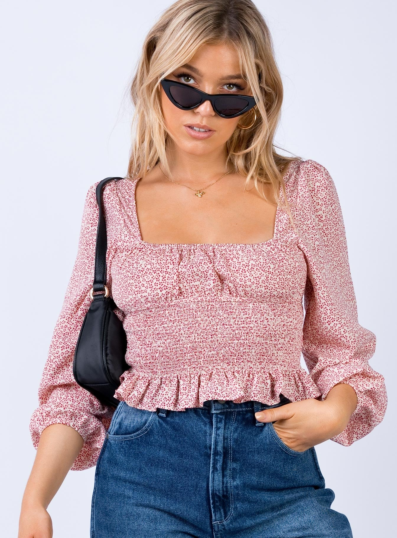 The Ryder Top Pink Print