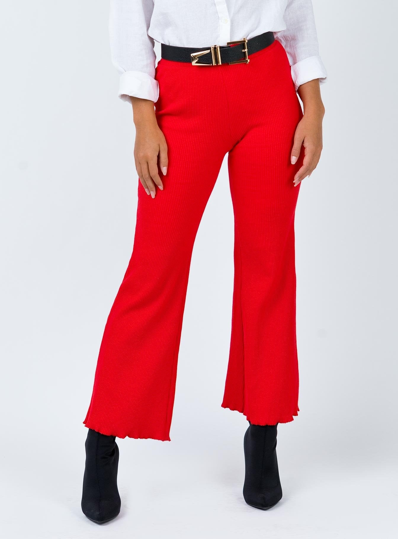 Talula Pants Red by Princess Polly
