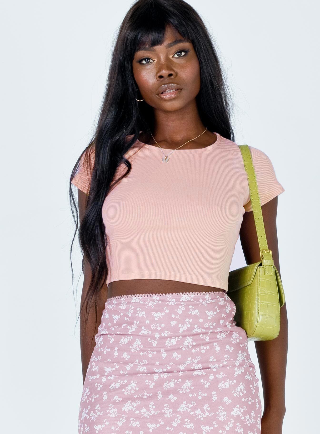 The Classic Cropped Tee Pink