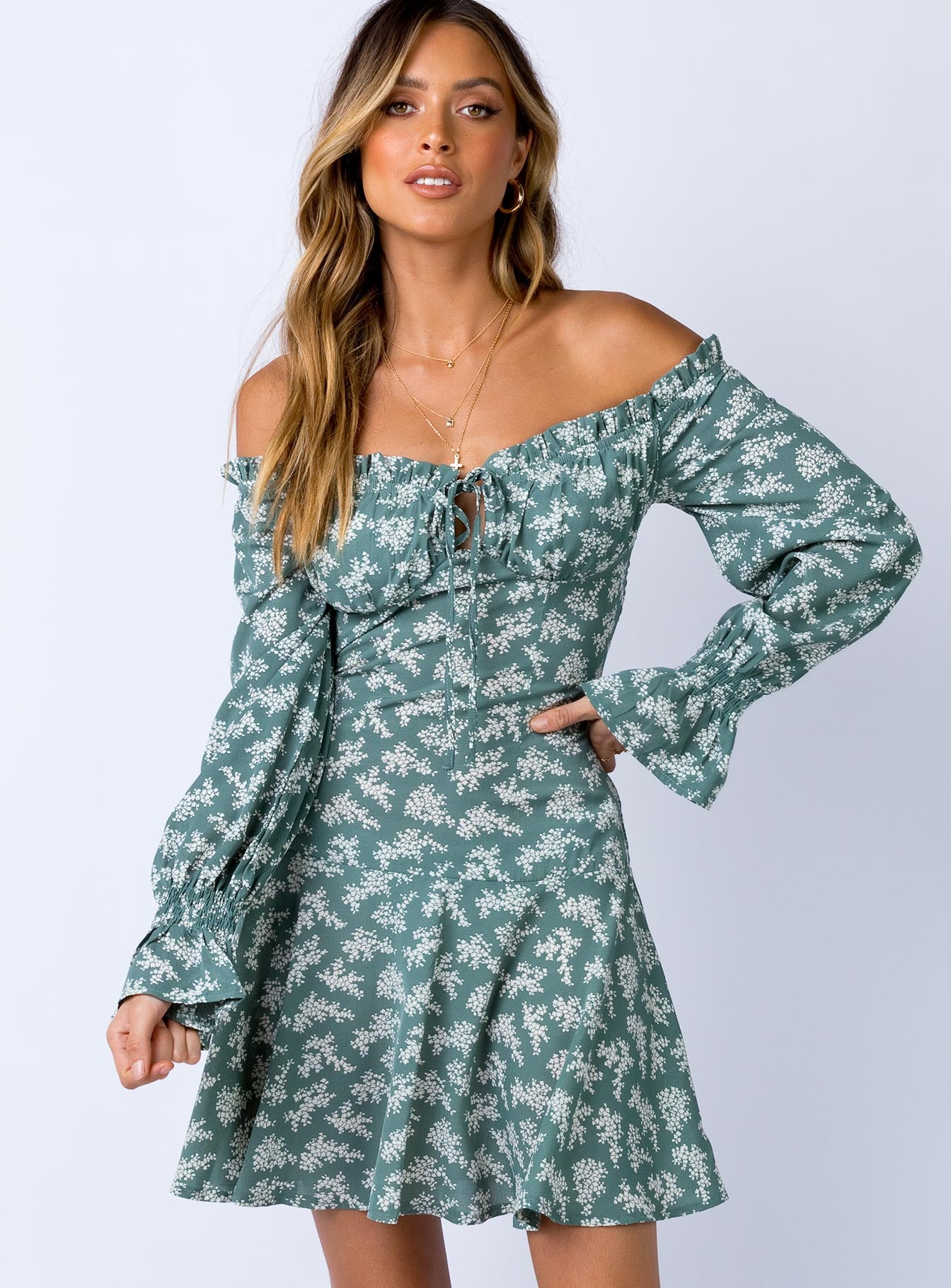 Tania Mini Dress Sage