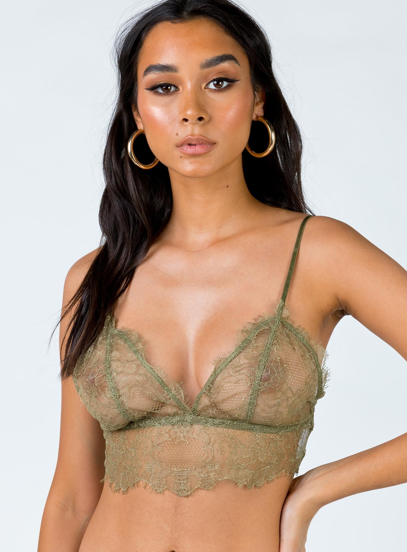 The KC Bralette Khaki