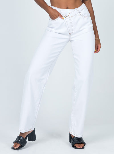 Lowrider Denim Jeans White