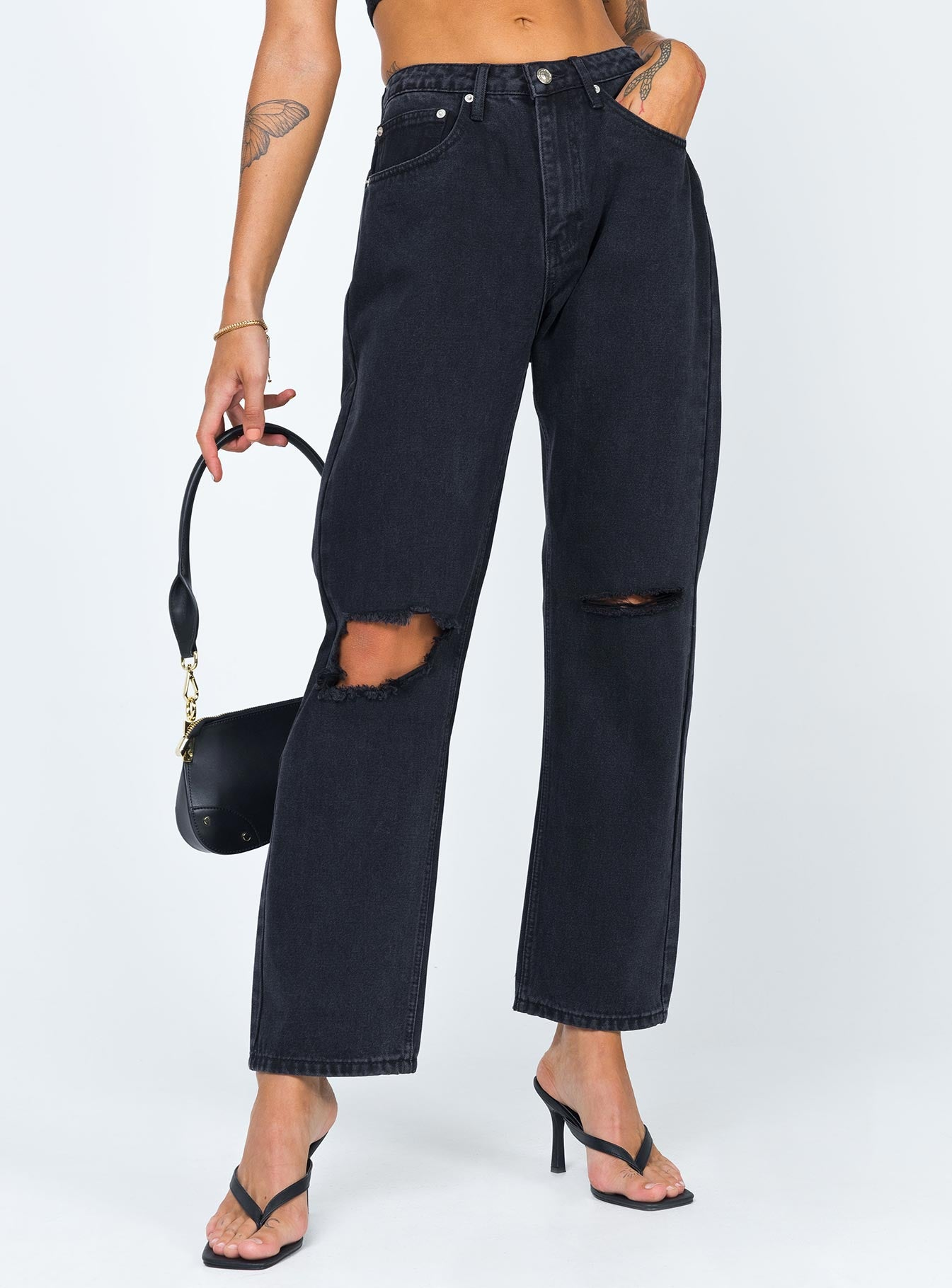 Fairmount Straight Leg Jeans Black Denim