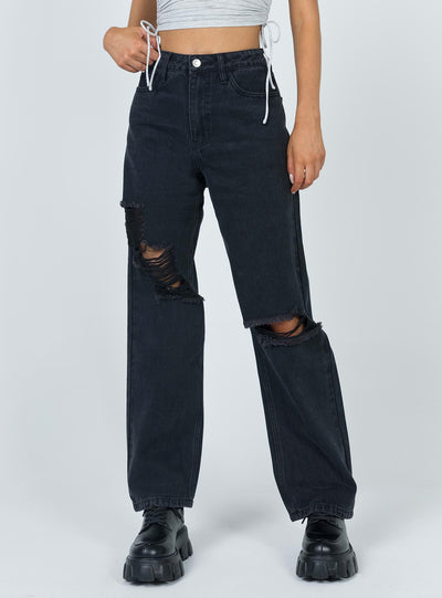 Fraya High Rise Boyfriend Jeans Denim