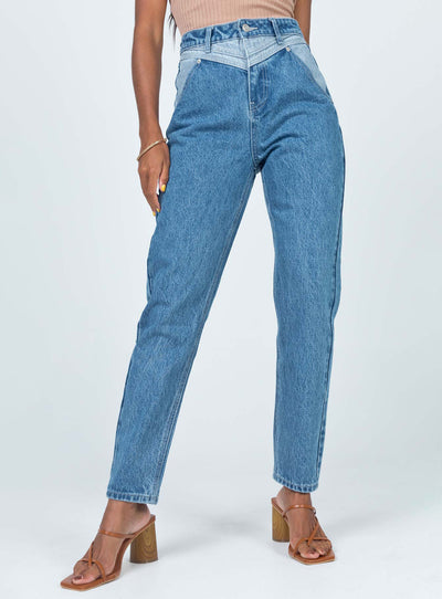 Springfield Mom Dark Wash Jeans Denim