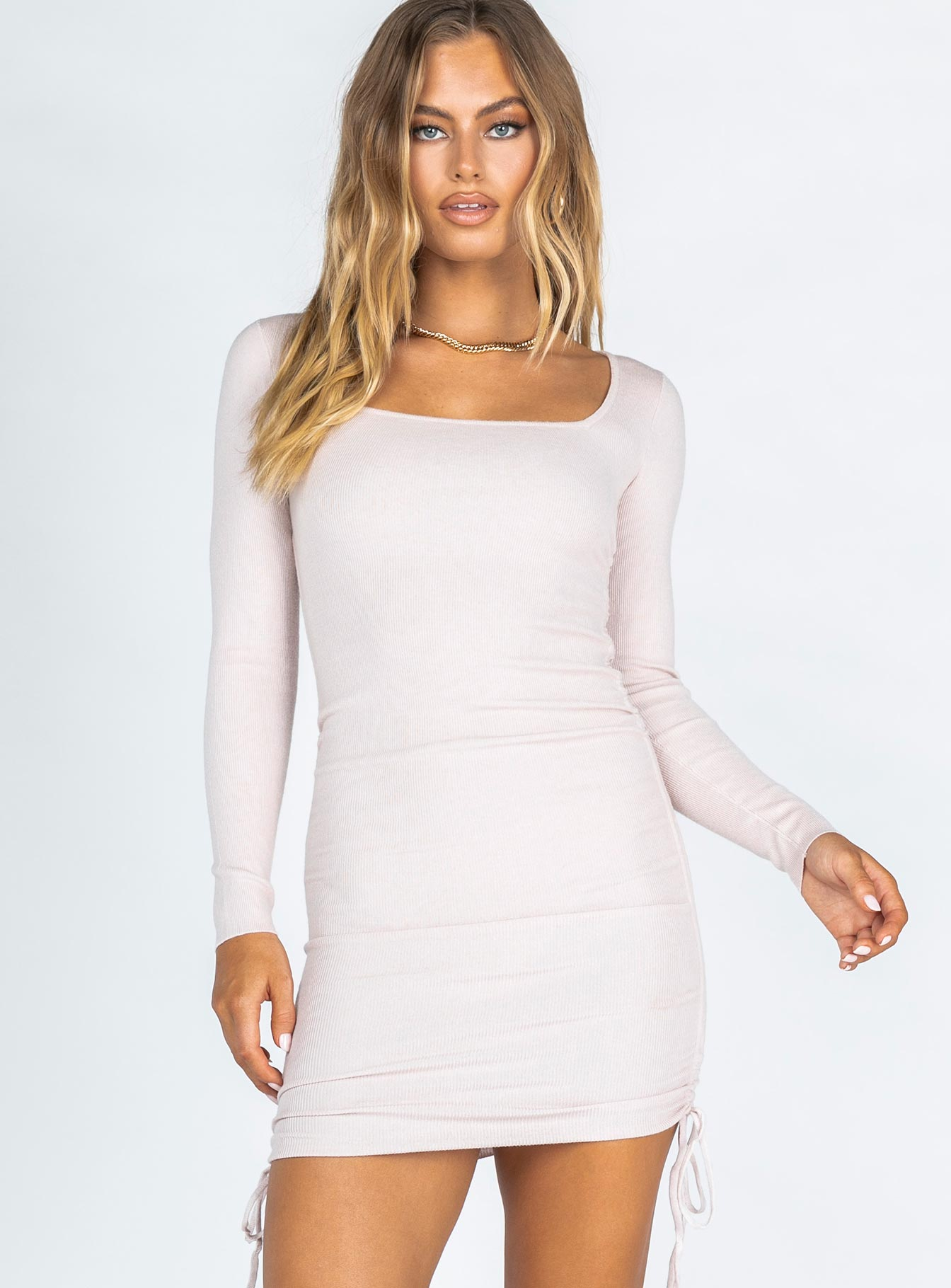 Montannah Mini Dress Beige