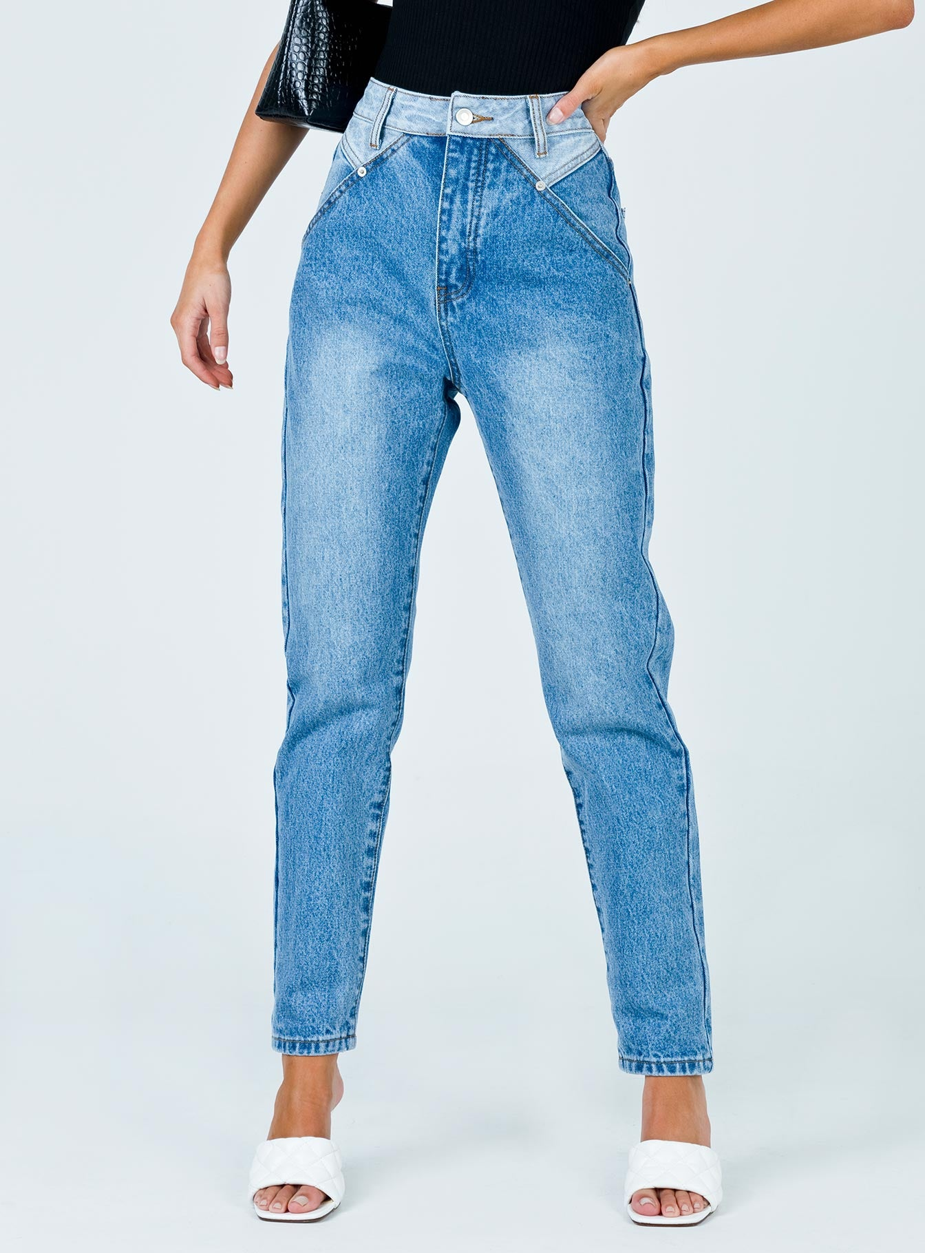 Springfield Mom Mid Wash Jeans Denim