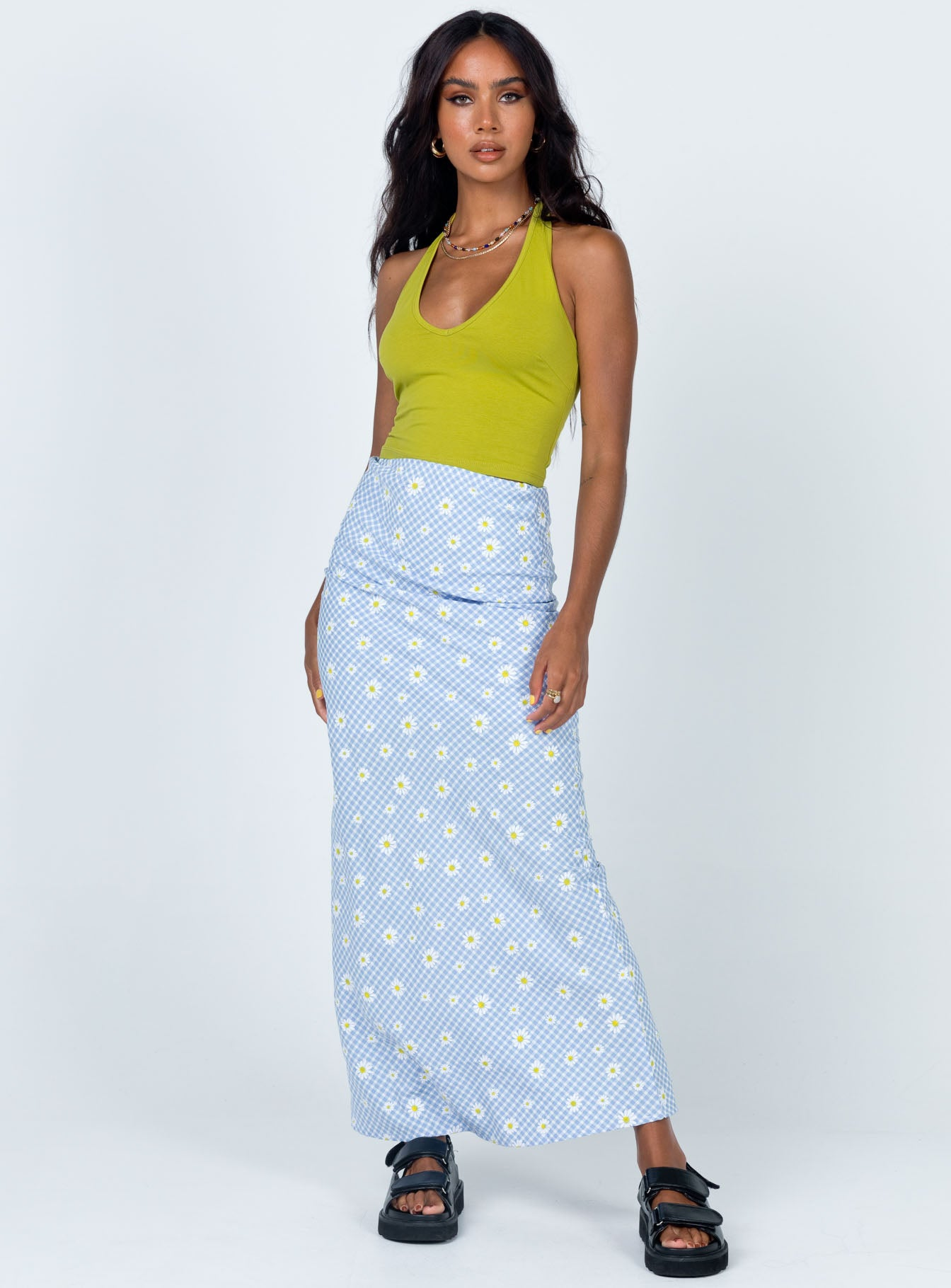 Mia Midi Skirt Blue