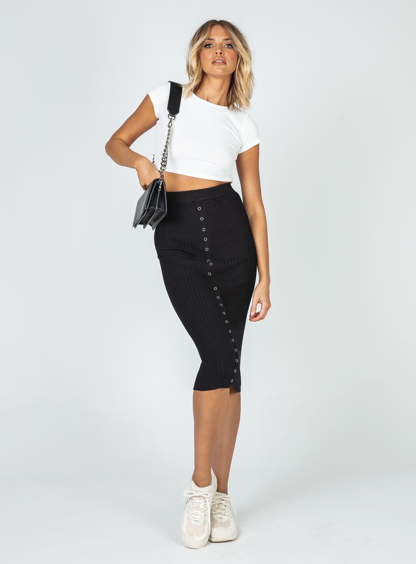 Devlin Midi Skirt Black
