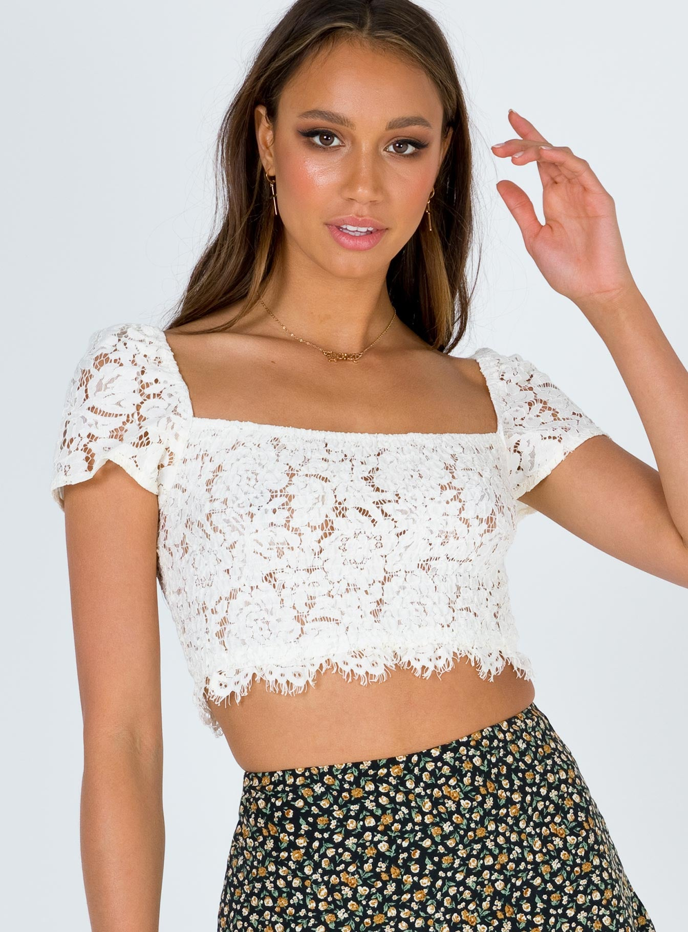 Forever Young Lace Crop Top