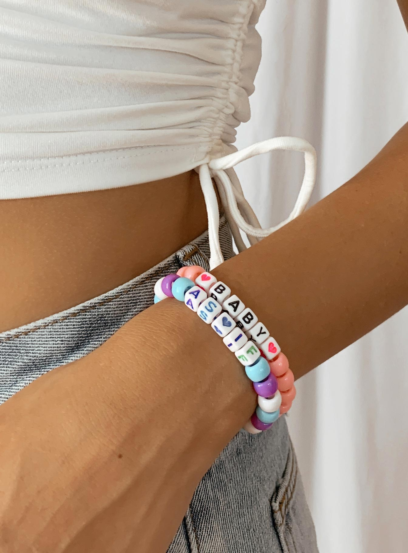 DIY Friendship Bracelet Set Rainbow