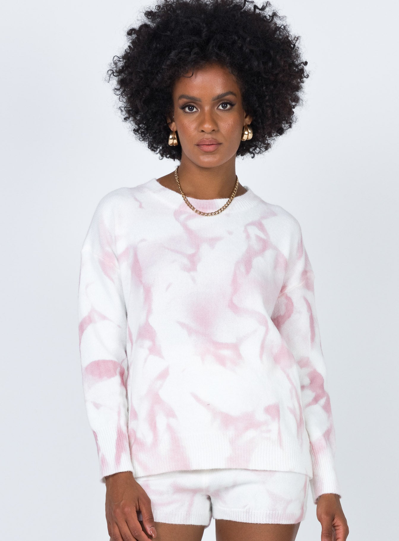 Hailey Tie Dye Sweater Pink