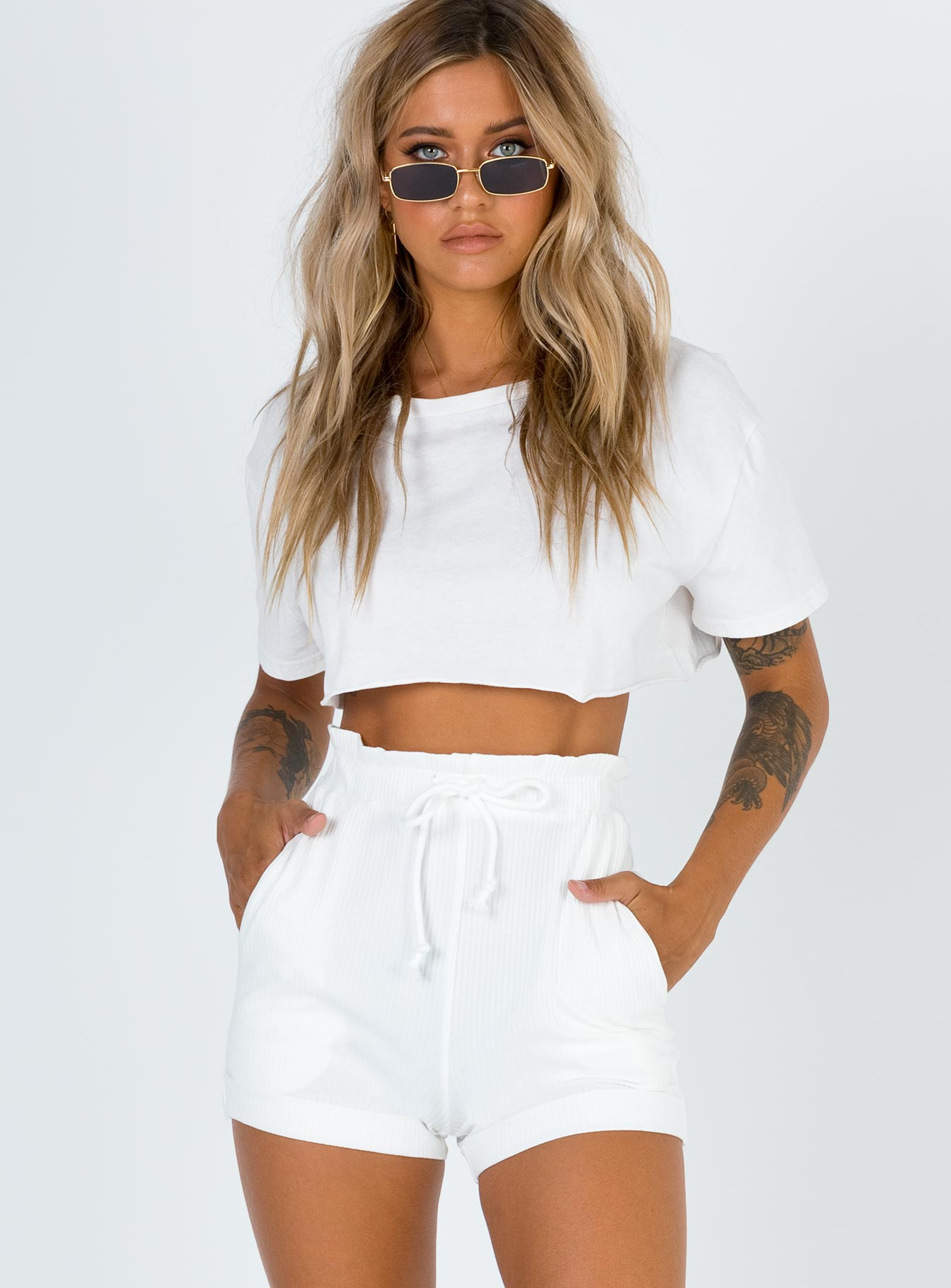 Dylis Shorts White