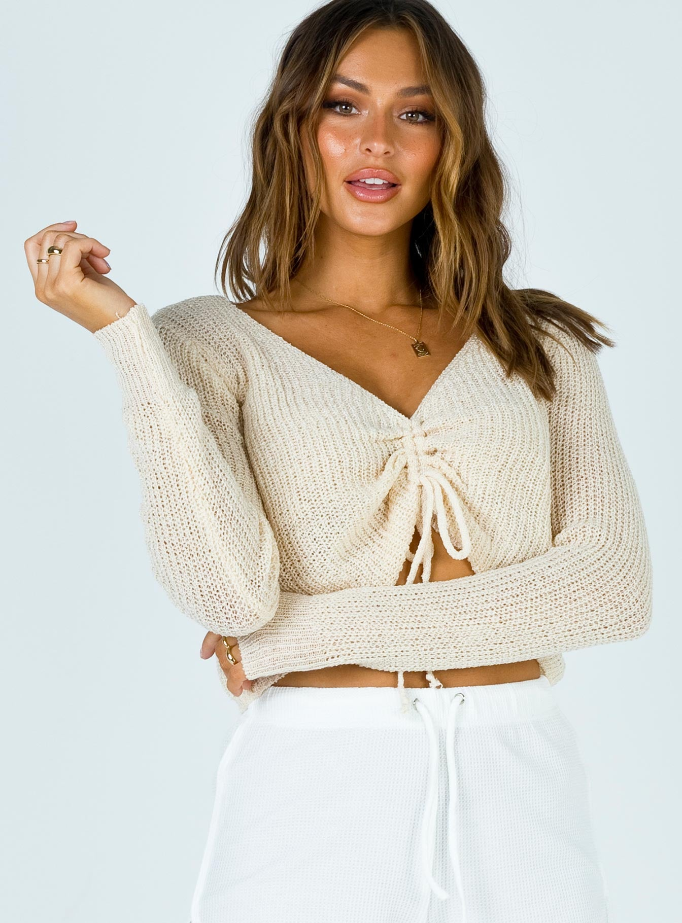Bethan Cinched Sweater Beige