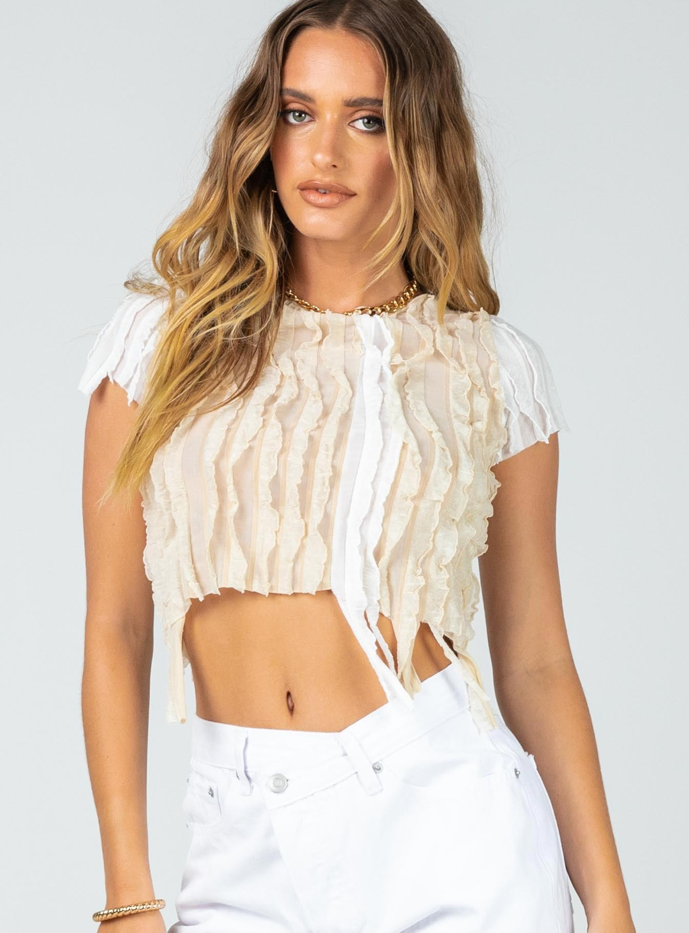 Vanilla Bean Crop Tee White