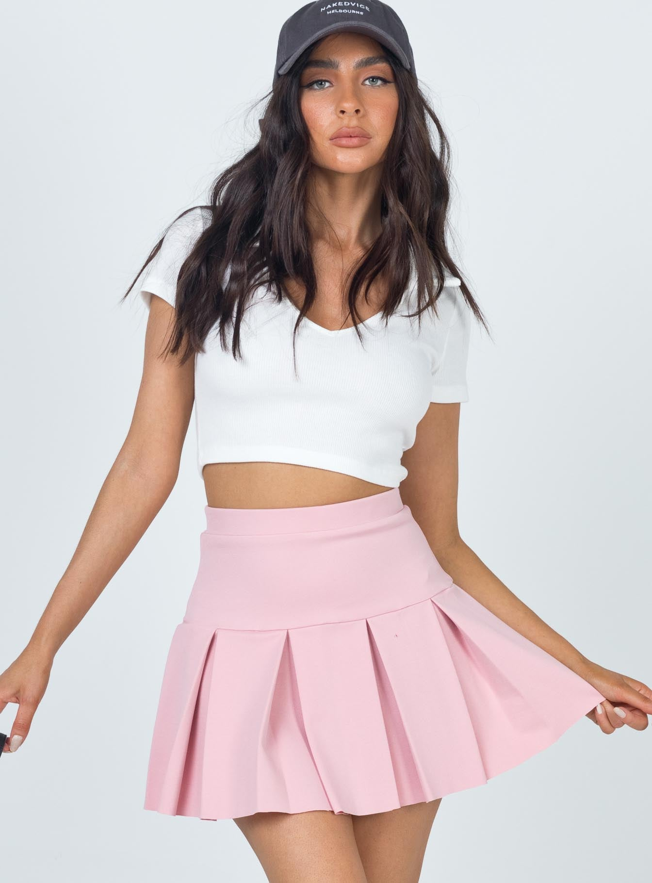 Rescue Me Pleat Skirt Pink