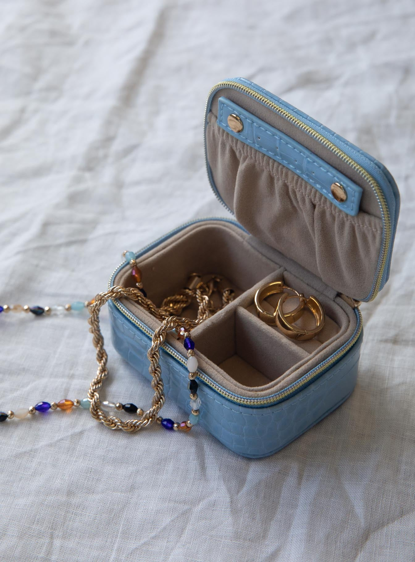 Wanderlust Square Jewelry Box Blue