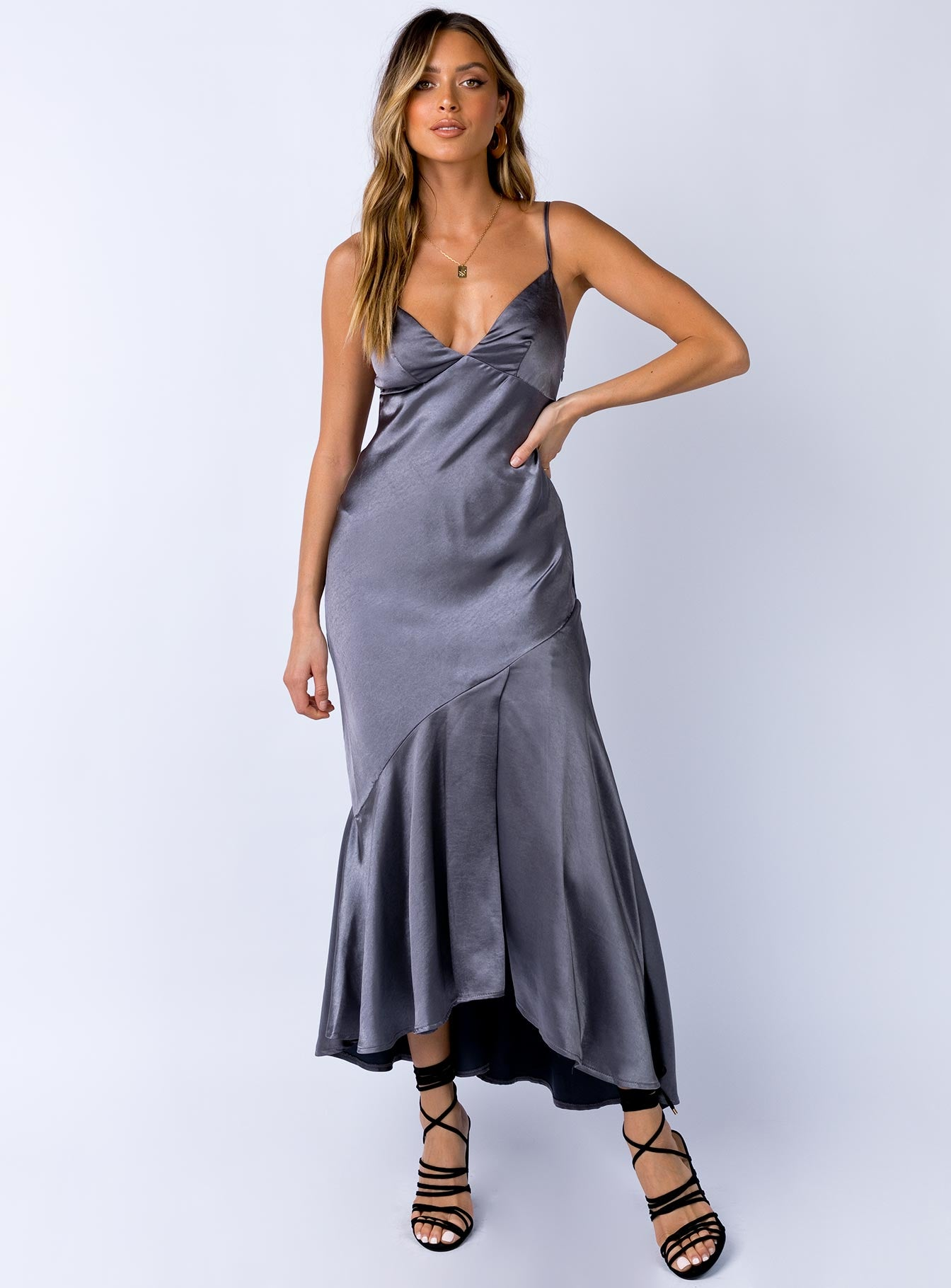 Swanley Maxi Dress Steel
