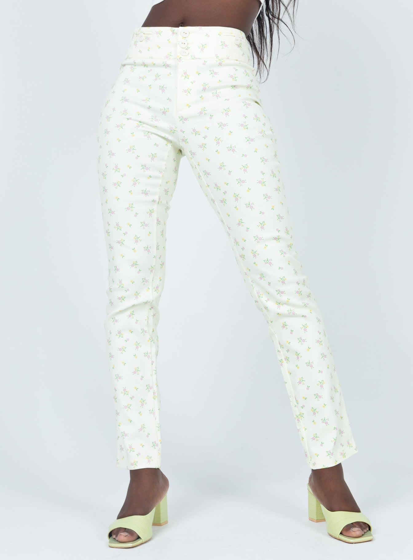 Abbie Pants Cream Floral