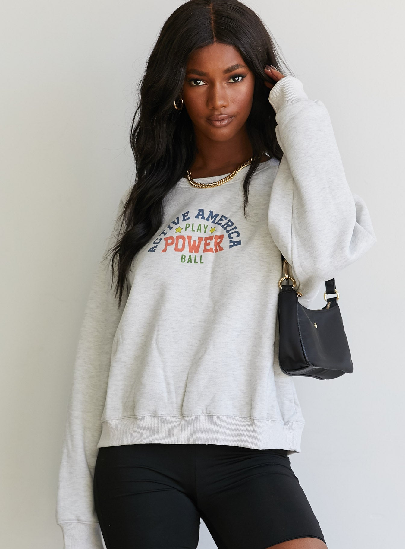Active America Sweater Grey