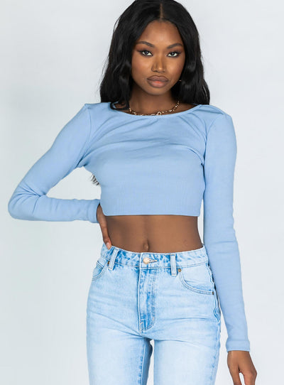 Skylar Long Sleeve Top Blue