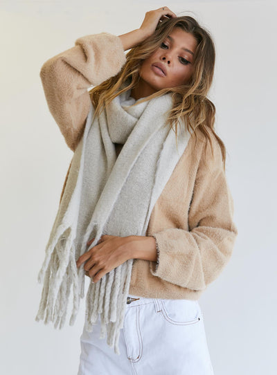 Jasper Oversized Scarf Cream
