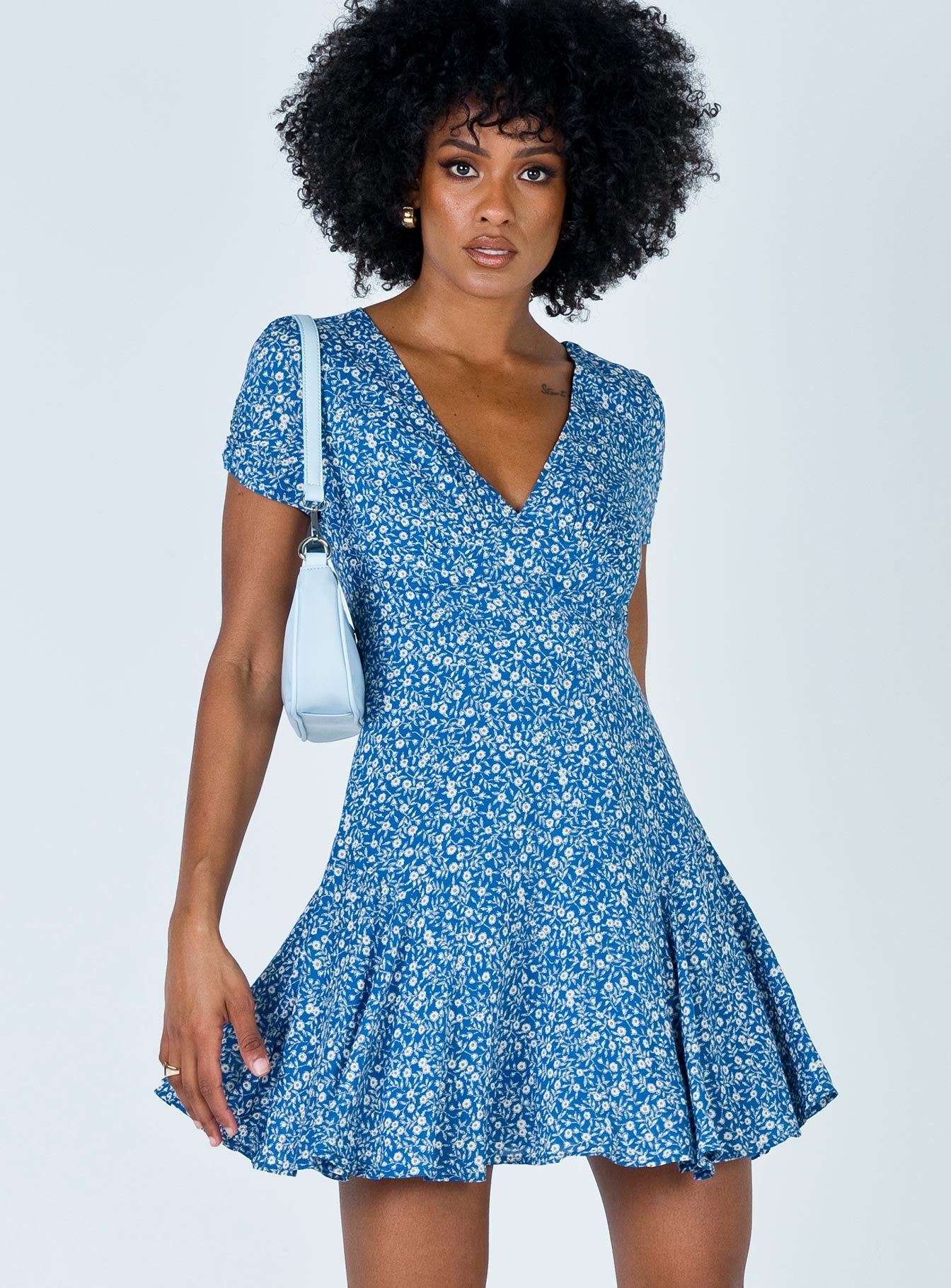 The Sting Mini Dress Blue