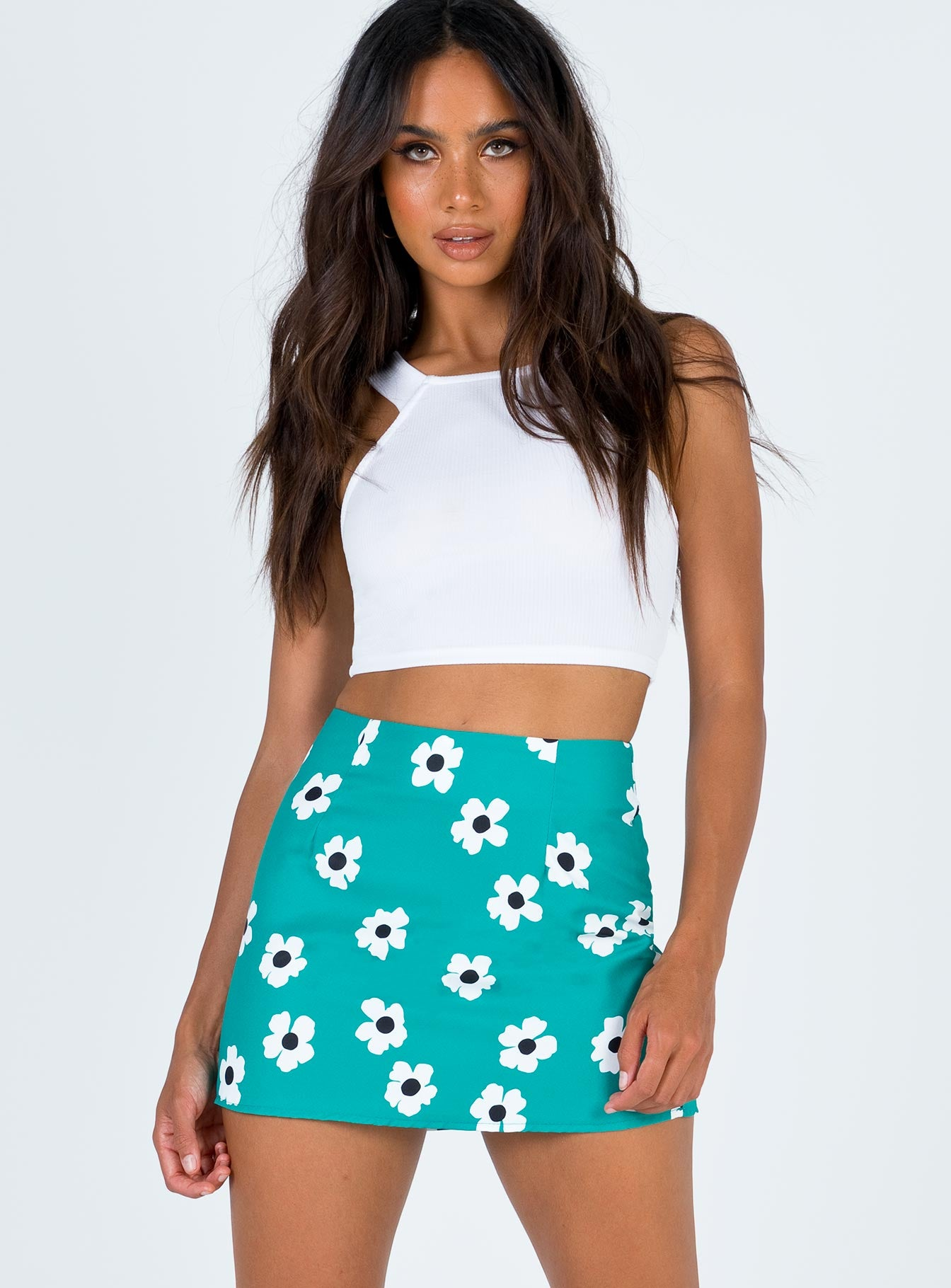 The Shelly Mini Skirt Green