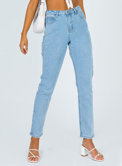 Kelsey High Rise Skinny Jean Light Wash Denim