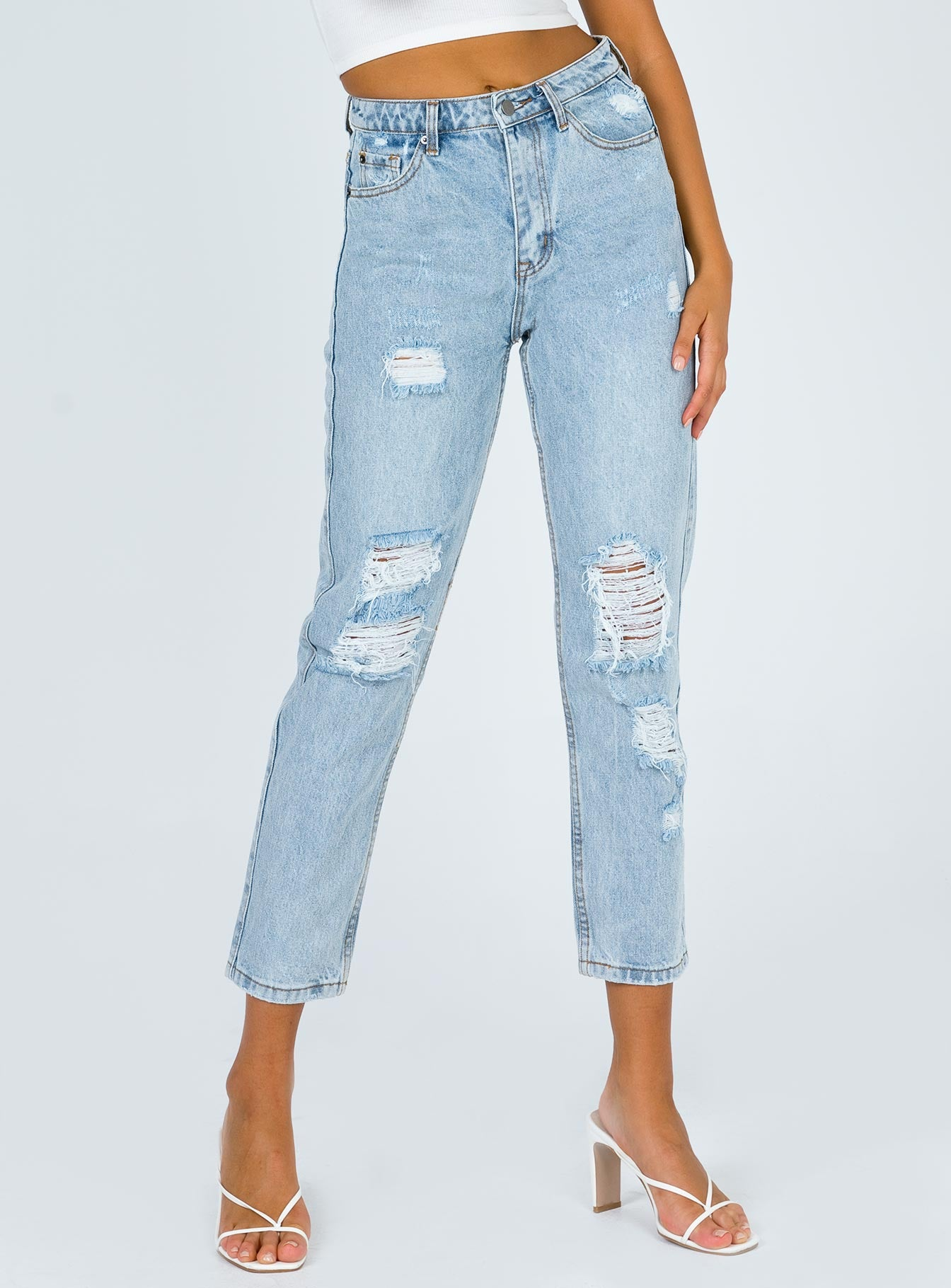 Becca Destructed Boyfriend Jean