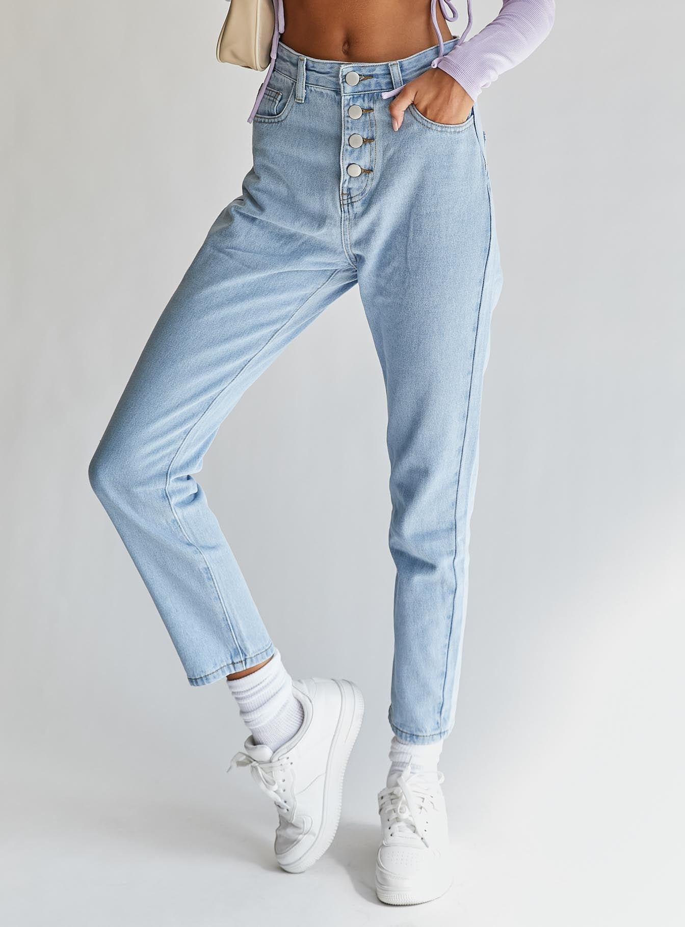 Fall In Line Jeans Light Wash Denim