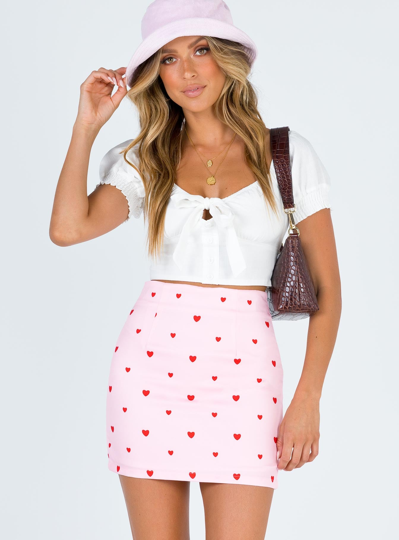 Chain of Hearts Mini Skirt