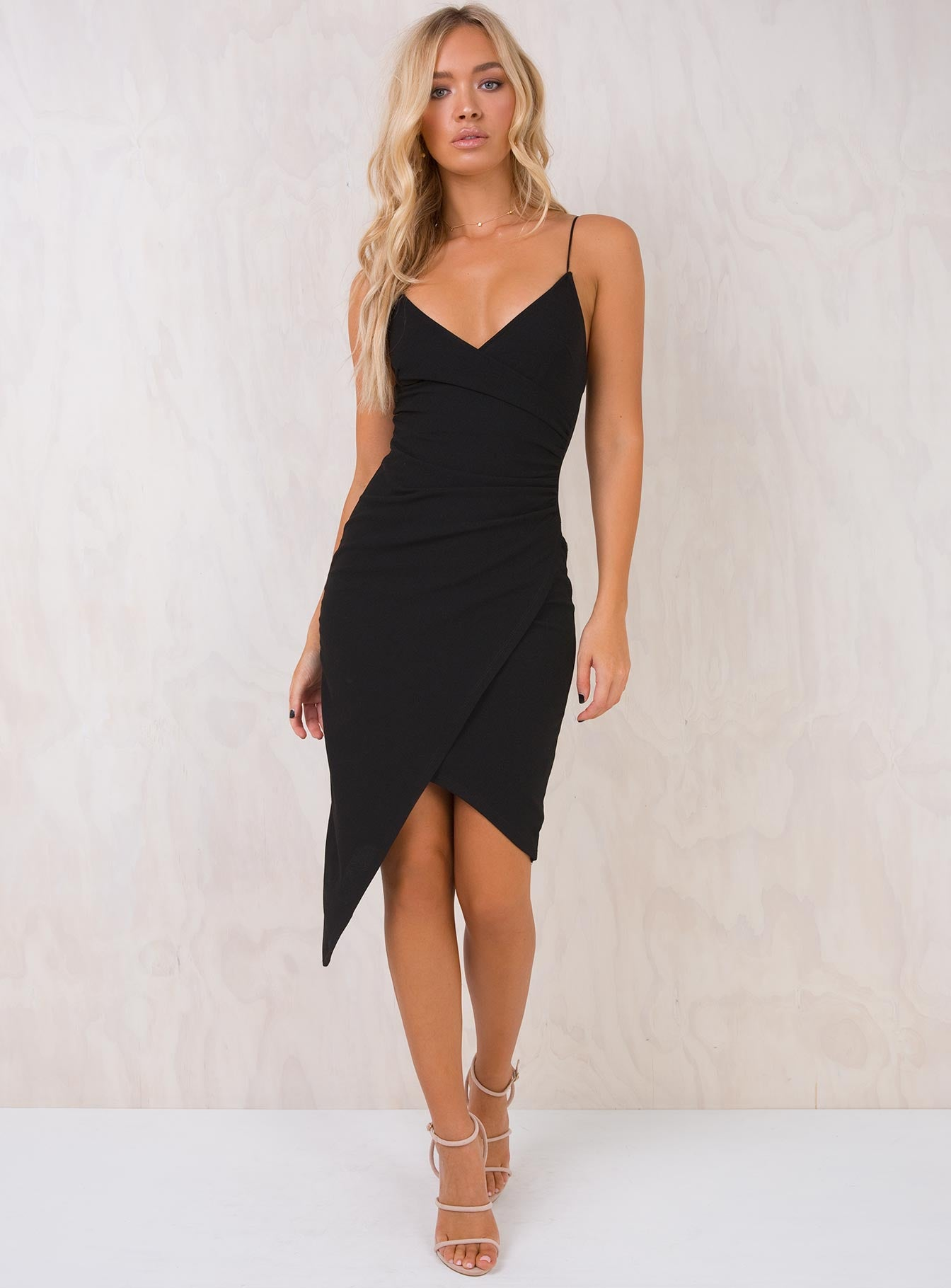 Night Drives Midi Dress Black