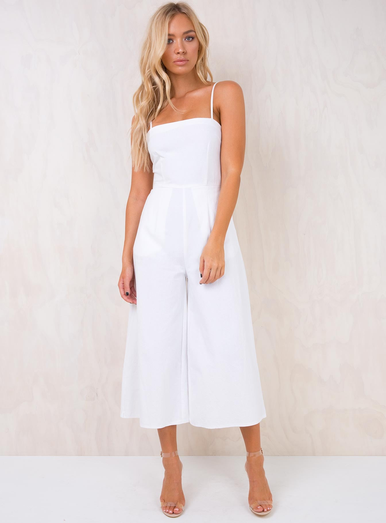 White Road To Nashville Tie Back Jumpsuit