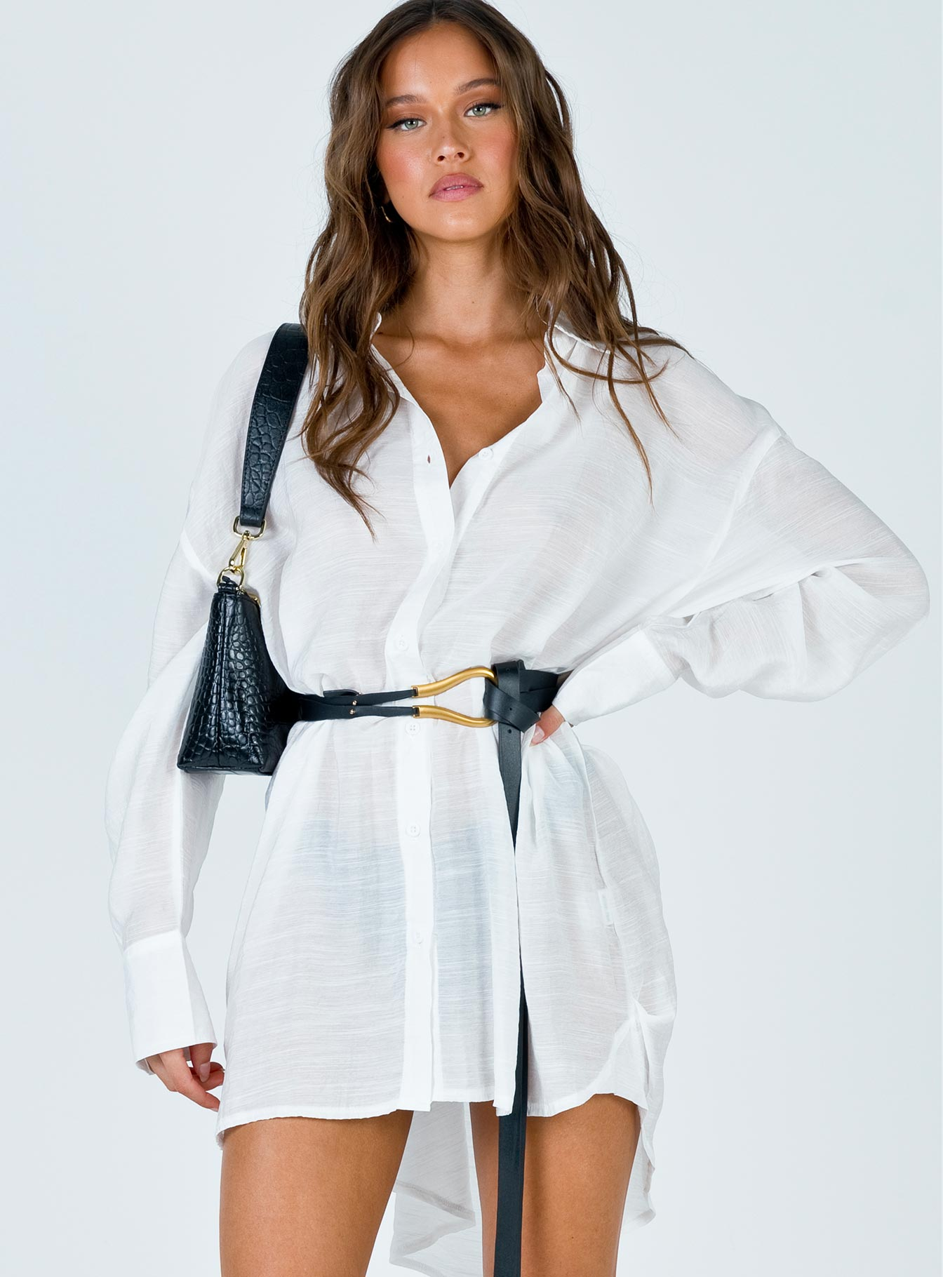 Angie Mini Dress White