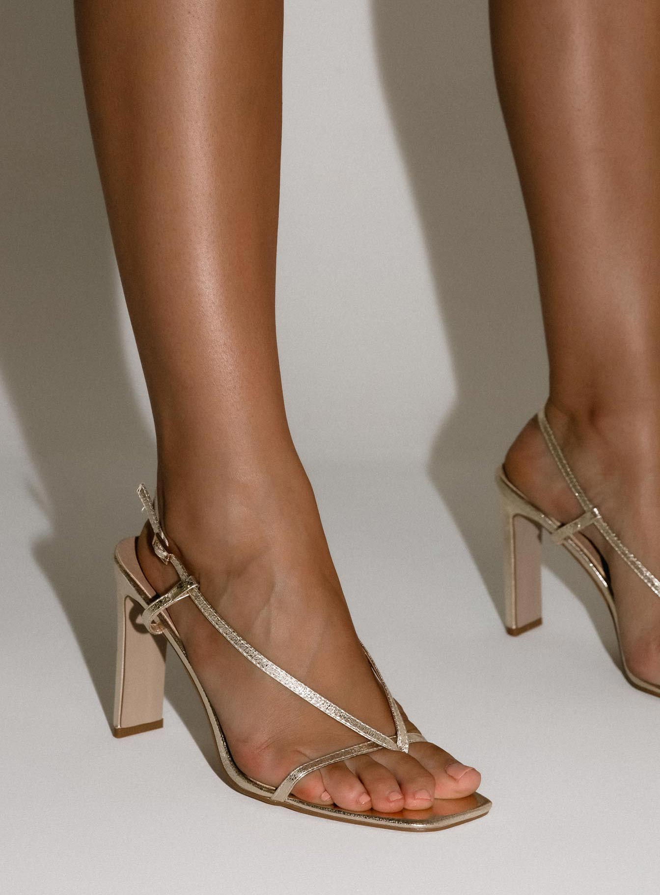 Billini Yael Heel Gold Crackle
