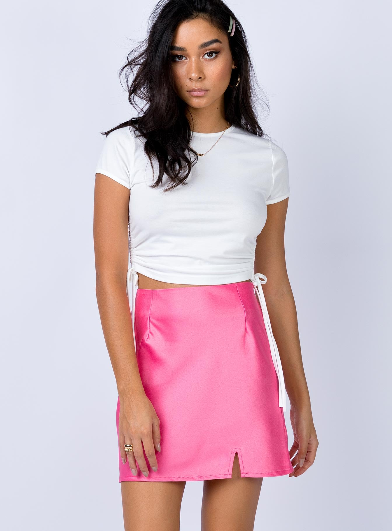Marcel Mini Skirt Hot Pink